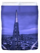 The Transamerica Pyramid At Sunset Duvet Cover