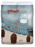 The Traveling Circus Duvet Cover
