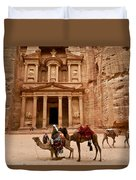 The Treasury Of Petra Duvet Cover