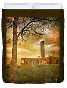 The Tree And The Bell Tower Duvet Cover