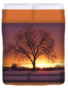 The Tree At Sunset Duvet Cover