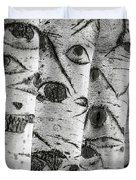 The Trees Have Eyes Duvet Cover by Wim Lanclus