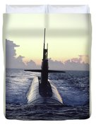The Trident Nuclear Submarine, Ohio Duvet Cover