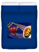 The Trombone Jazz 001 Duvet Cover