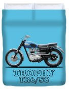 The Trophy Tr6 Sc Motorcycle Duvet Cover