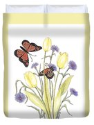 The Tulip And The Butterfly Duvet Cover