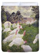 The Turkeys At The Chateau De Rottembourg Duvet Cover