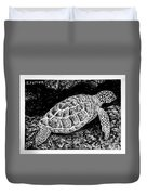 The Turtle Searches Duvet Cover