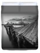The Twisted Pier Bw Duvet Cover