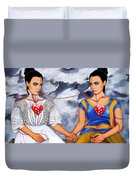 The Two Delevingnes Duvet Cover