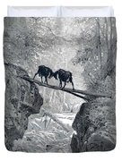 The Two Goats Duvet Cover