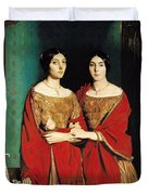 The Two Sisters Duvet Cover by Theodore Chasseriau