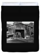 The Undertaker's Wagon Black And White 2 Duvet Cover