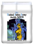 The United States Army Builds Men Duvet Cover