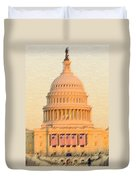 The United States Capitol Duvet Cover