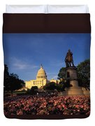 The United States Capitol, Washington Duvet Cover