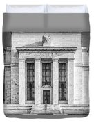 The United States Federal Reserve Bw Duvet Cover