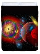 The Universe In A Perpetual State Duvet Cover by Mark Stevenson