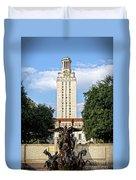 The University Of Texas Tower Duvet Cover