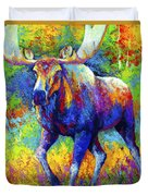 The Urge To Merge - Bull Moose Duvet Cover