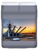 The Uss Missouri's Last Days Duvet Cover