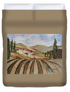 The Valley Of Jesrael Duvet Cover