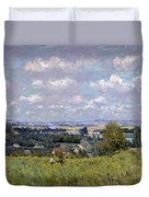 The Valley Of The Seine At Saint Cloud Duvet Cover