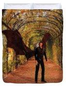 The Vampire In The Garden Duvet Cover