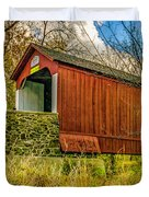 The Van Sant Covered Bridge Duvet Cover