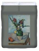 The Vase Of Tulips Duvet Cover
