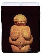 The Venus Of Willendorf Duvet Cover