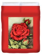 The Very Red Rose Duvet Cover