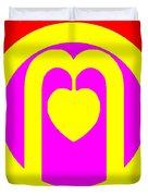 The Very Secret Sacred Heart Of Om Duvet Cover