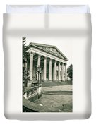 The Victoria Rooms With Lamp Post, Bristol Duvet Cover