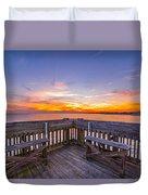 The View Folly Beach Sc Duvet Cover