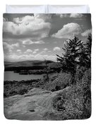 The View From Bald Mountain Duvet Cover