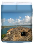 The View From Fort Rodney On Pigeon Island Gros Islet Caribbean Duvet Cover