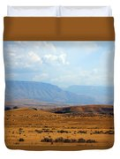 The View From Red Gulch Duvet Cover