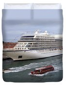 The Viking Star Cruise Liner In Venice Italy Duvet Cover