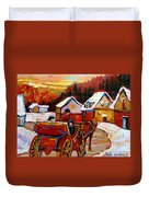 The Village Of Saint Jerome Duvet Cover