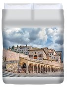 The Village Of St. Francis Of Assisi Duvet Cover
