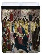 The Virgin And Child Enthroned With Angels And Saints Duvet Cover