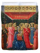 The Virgin And Child With Angels Duvet Cover