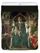 The Virgin And Saints Duvet Cover