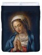 The Virgin At Prayer Duvet Cover