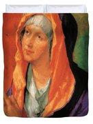 The Virgin Mary In Prayer Duvet Cover