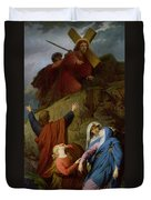 The Virgin Of Calvary Duvet Cover by Jules Eugene Lenepveu