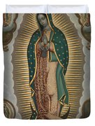 The Virgin Of Guadalupe With The Four Apparitions Duvet Cover