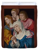 The Virgin Saints And A Holy Woman Duvet Cover