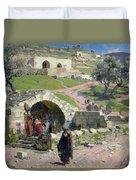 The Virgin Spring In Nazareth Duvet Cover